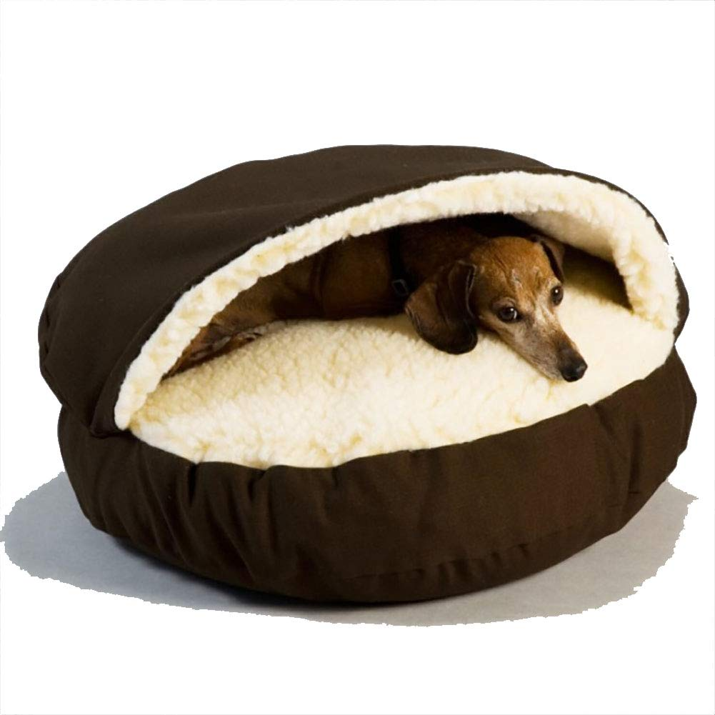 Brown Small Brown Small Pet nest cave Warm pet nest Indoor Sleep pet Sleeping Bag cat and Puppy, Easy to Clean,Brown,S