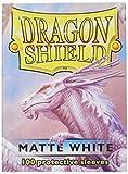 Dragon Shield Matte White 100 Protective Sleeves