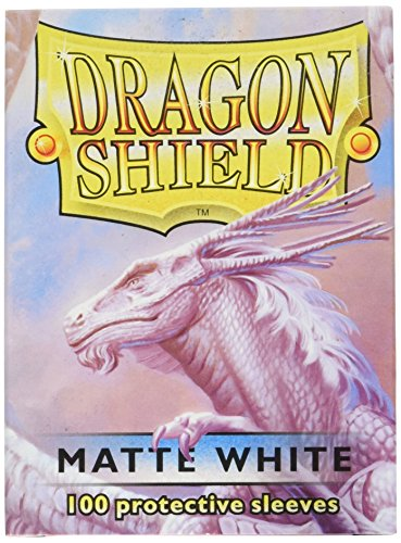 Dragon Shield Matte White 100 Protective Sleeves