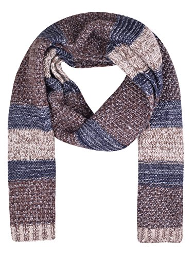 Ladies Mohair Knit Scarf (fashionable knitted scarfs warm scarves wool scarf womens for winter Brown)