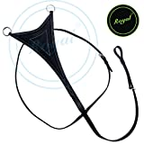 Runners Flat Running Martingale with Soft Leather./ Buffalo Leather./ Stainless Steel Buckles.