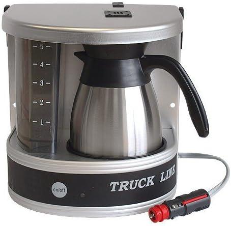 24 V Cafetera de filtro cafetera aluminio + Jarra Térmica (6 tazas ...