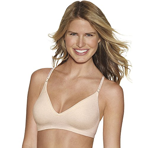 Hanes womens Comfy Support ComfortFlex Fit Wirefree Bra(G795)-Nude Heather-L