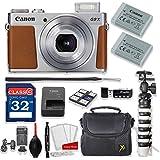 Canon PowerShot G9 X Mark II 20.1MP 3x Optical Zoom Digital Camera Kit (Silver) + 32GB High Speed Memory Card + Extra Battery + Professional Accessory Bundle