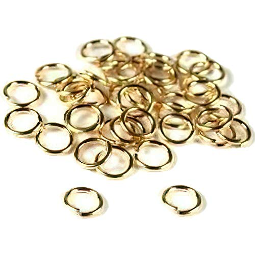 40 14K Gold Filled Jump Rings Open Jewelry 22 Gauge 5mm