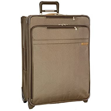 Briggs & Riley @ Baseline Luggage Baseline Expandable Upright Durable Suitcase, Olive, Large