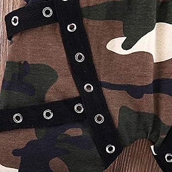FindeGo Baby Kurzarmshirts Brief gedruckt Neugeborenes Baby-Hemd Camouflage-Hosen