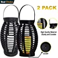 Solar-N Solar-Lantern Hanging Powered Lights-Outdoor Decorative Light for Patio and Garden (2 Packs, Black)