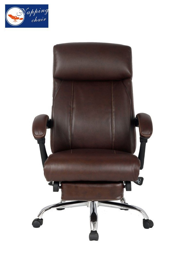 Ergonomic office chair recliner - Amazon Com Bonded Leather Recliner Chair High Back With Footrest Brown Kitchen Dining