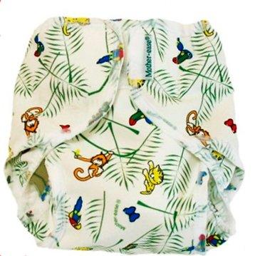 rainforest print medium Mother-ease Rikki PUL wrap 10-20 lbs