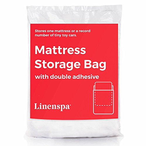 Linenspa Heavy Duty Mattress Storage Bag with Double Adhesive Closure, Queen,