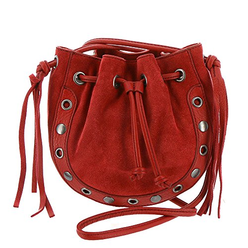 Lucky Tuli Pouch Cross Body, Poppy Red by Lucky Brand