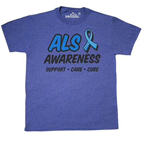 T-shirts Als Cure (inktastic - ALS Awarenesss Support T-Shirt X-Large Retro Heather Royal 30376)