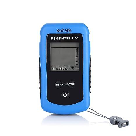 outlife Echo de Sounder detectores y para Fisherman pescado Finder inalámbrico LCD Ultrasónico Echolot Echos Sounder