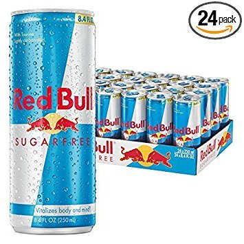 Red Bull Sugarfree, Energy Drink, 8.4 Fl Oz Cans, 24 Pack - Pack of 3 by Red Bull