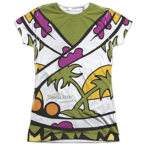 (Fraggle Rock Classic TV Show Wembley Fraggle Uniform Juniors Front Print T-Shirt)