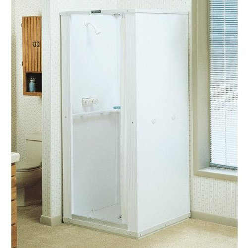 Mustee 142 Durastall 36-in x 36-in Shower Stall with Extended Base