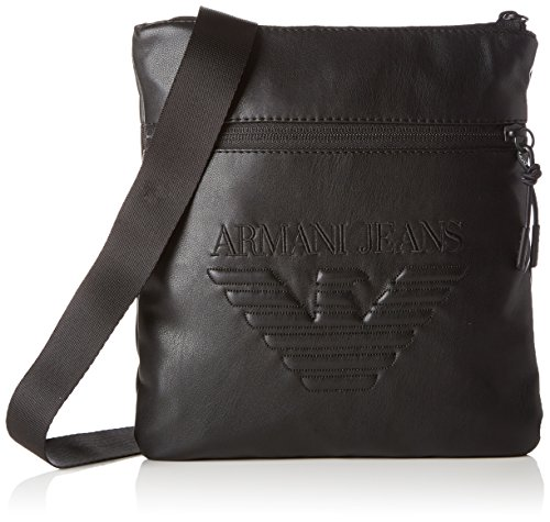 Armani Exchange Men's Nappa Look Soft Pouch Bag, - Armani Bag Men