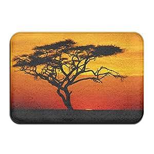 r-ansxyx alfombrilla antideslizante para alfombra Felpudo Sunset árbol para casa/interior/cocina/baño