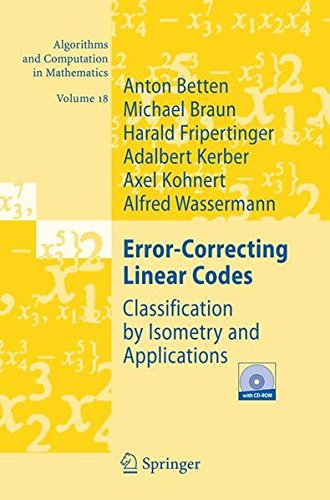 Error-Correcting Linear Codes: Classification by Isometry and Applications (Algorithms and Computation in Mathematics)