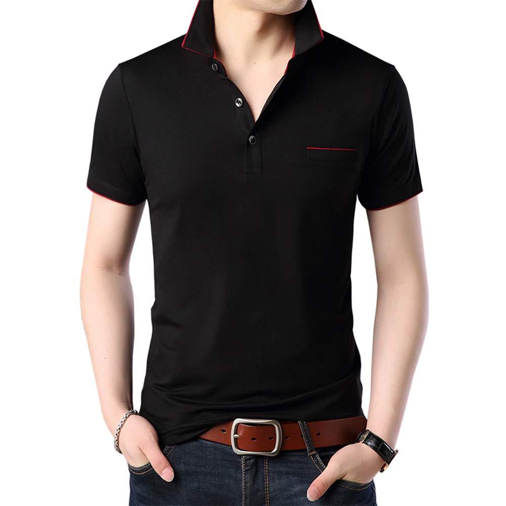 ポロシャツ トップス 吸汗速乾 薄手 メンズ シンプル (3カラー) ファッション かっこいい カジュアル 半袖 快適 通気性 スポーツ 無地