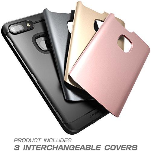 Carcasa iPhone 8 Plus, Supcase Resistente al agua de cuerpo entero Protector robusto con protector de pantalla incorporado con 3 cubiertas intercambiables para Apple iPhone 8 Plus 2017 Lanzamiento