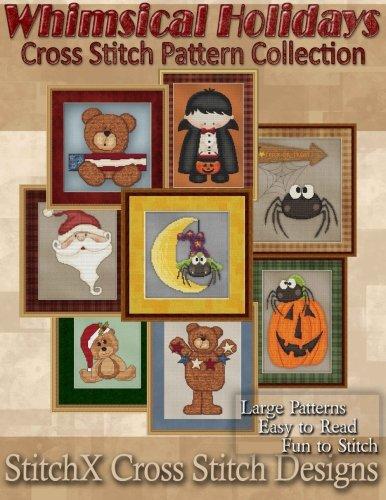 Whimsical Holiday Cross Stitch Pattern -