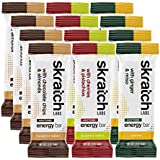 Skratch Labs: Anytime Energy Bars Variety Pack - 4 Chocolate Chip and Almond bars, 4 Cherries and Pistachio bars, 4 Ginger and Miso bars(vegan, kosher, dairy free, gluten free, non GMO, delicious)