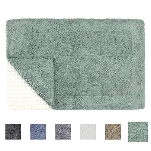 TOMORO Cotton Non-Slip Bathroom Rug Super Absorbent Soft - Luxury Hotel Linens Reversible Non-Skid Door and Bath Mat with Non-Slip Rug Pad from TOMORO