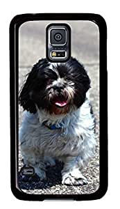 Diy Fashion Case for Samsung Galaxy S5,Black Plastic Case Shell for Samsung Galaxy S5 i9600 with Shih Tzu hjbrhga1544