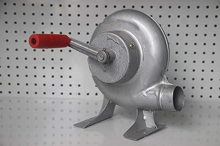 Ventilador De Barbacoa Top Manual Forge Blower Fuelles Manivela Verde, 80W