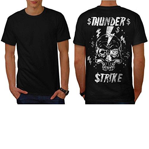 [Skull Thunder Strike Lightning Men NEW XXL T-shirt Back | Wellcoda] (Thunder Lightning Costume)