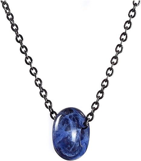 Sodalite Crystal Point Pendant Natural Gemstone Necklace Healing Stone Chakra