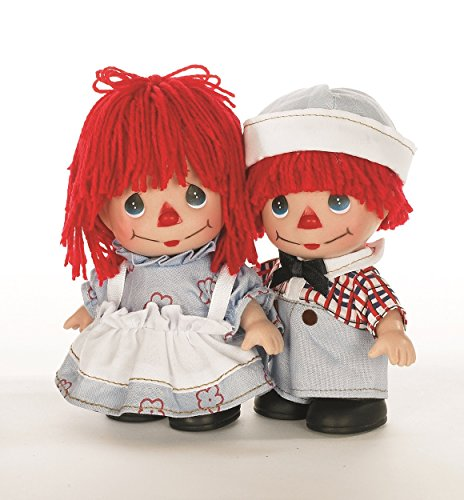Precious Moments Mini Moments Raggedy Ann and Andy Set of 2 5.5