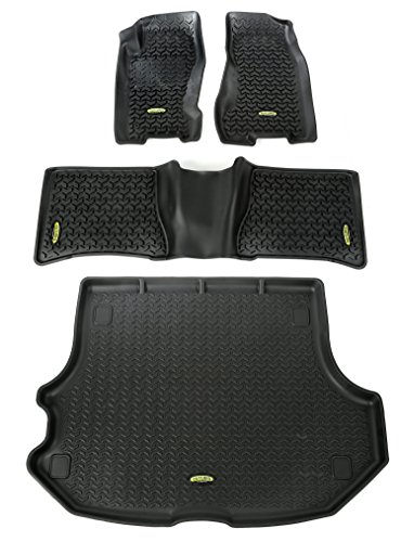 Grand Cherokee Models - Outland 391298832 Black Front, Rear and Cargo Floor Liner Kit For Select Jeep Grand Cherokee Models