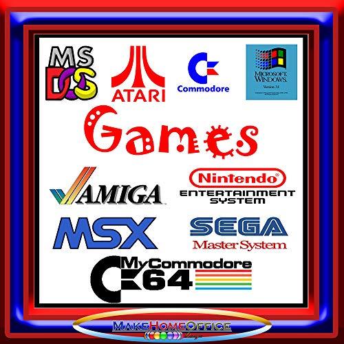 InsideMix 800 Giochi Vintage Games Retrogames Giochi Anni 80 Giochi Anni 90 Funzionanti su Windows e MAC su PEN USB 32GB Senza Bisogno di Emulatore Giochi Amiga Commodore PC Atari Sega Nintendo