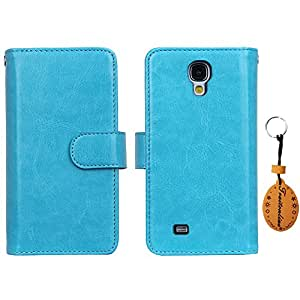 Traitonline® Wallet Case,High Quality Hot Selling Fashion Multi-function leather Protective Case Back Cover Shell Protective Bumper for Samsung Galaxy S4 i9500 With 9 Slot Credit Card Holder Blue