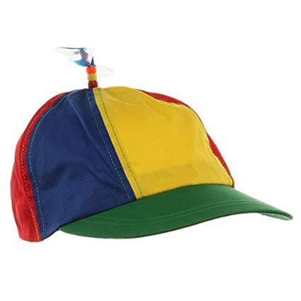 aee36dfafff Amazon.com  Forum Novelties Child Propeller Beanie Multi Colored Baseball  Hat  Toys   Games