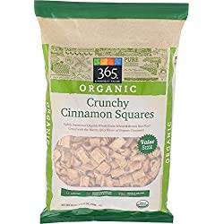 Whole Foods 365 Everyday Value, Organic Crunchy Cinnamon Squares, 28 Ounce