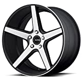 honda accord 2005 rims - One KMC Satin Black Machined Face KM685 District Wheel/Rim - 19x9.5 - 5x114.3 - +35mm