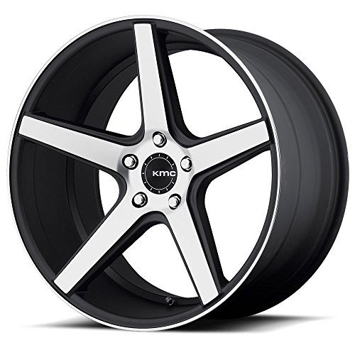 One KMC Satin Black w/ Machined Face KM685 District Wheel/Rim - 18x8 - 5x114.3 - +38mm