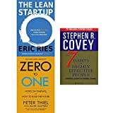 img - for Lean startup, zero to one and 7 habits of highly effective people 3 books collection set book / textbook / text book