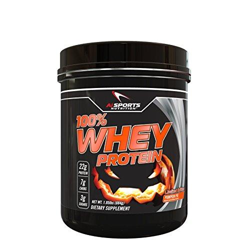 AI Sports Nutrition 26 Servings Pumpkin Pie Whey Protein Powder, 1.95 Pound