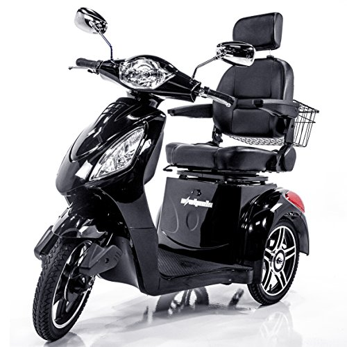 (EWHEELS EW-36 Elite Recreational Electric Mobility Scooter for Adults with Electromagnetic Brakes, Black)