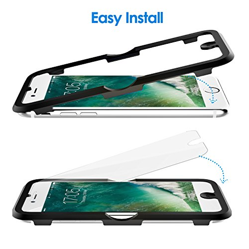 JETech Screen Protector for Apple iPhone 8, iPhone 7, iPhone 6s, iPhone 6, 4.7-Inch, Tempered Glass Film with Easy-Installation Tool, 2-Pack by JETech (Image #2)