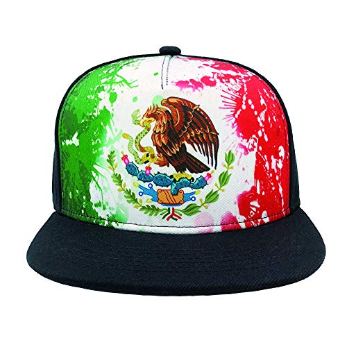 Channel Five Mens Mexico Flag Eagle Snapback Hats for Men Adjustable Funny Fitted Flat Bill Hats -