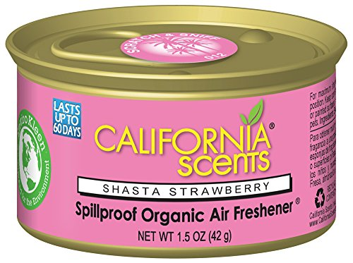 - California Scents Spillproof Can Air Freshener Eco-Friendly Odor Neutralizer for Home, Car, Much More, Shasta Strawberry, 1.5 oz, 12 Pack
