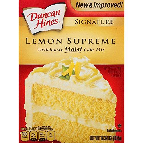 Duncan Hines Signature Lemon Supreme Cake Mix 15.25oz (pack of 2)
