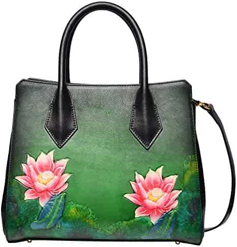 PIJUSHI Top Handle Satchel Bags Designer Leather Handbags Floral Purses for  Women f051c96b27b9b