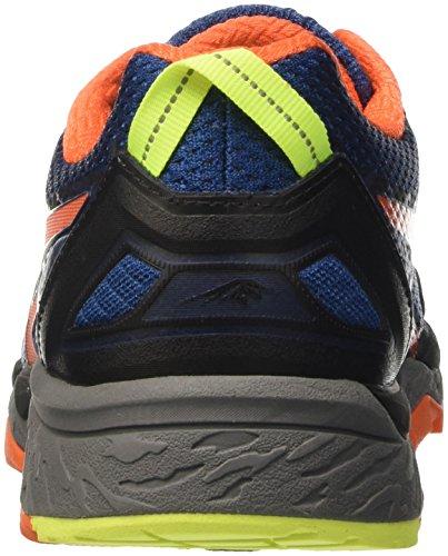 Asics Gel-Fujitrabuco 5, Zapatillas de Gimnasia para Hombre Blu (Poseidon/Flame Orange/Safety Yellow)
